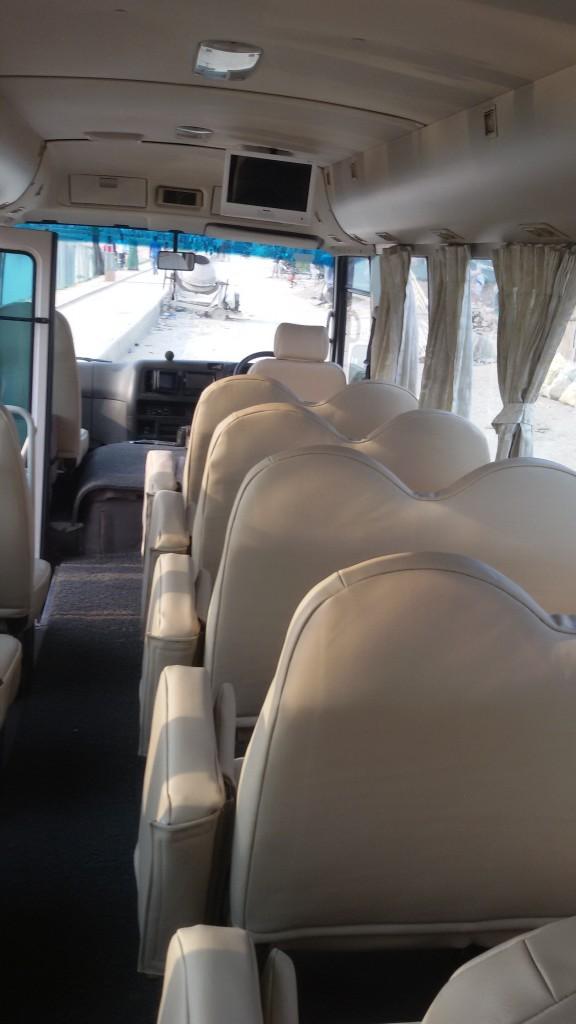 Tourist bus seat arrange