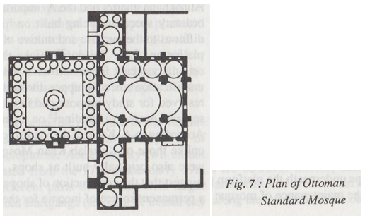 plan of Ottoman Standard Mosque