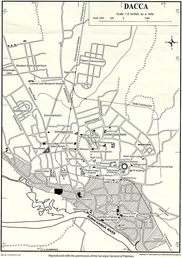 Dacca Sketch map 1961