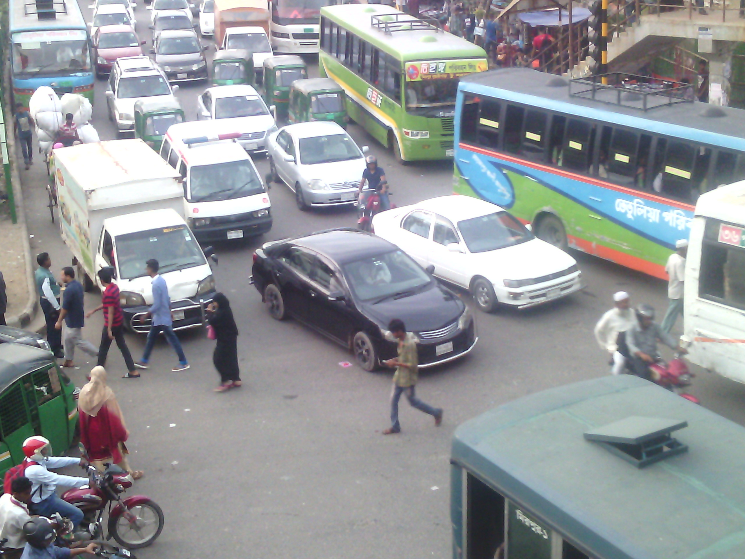 Traffic jams in Dhaka